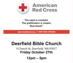 Red Cross Blood Drive Oct. 27th 12pm-5pm